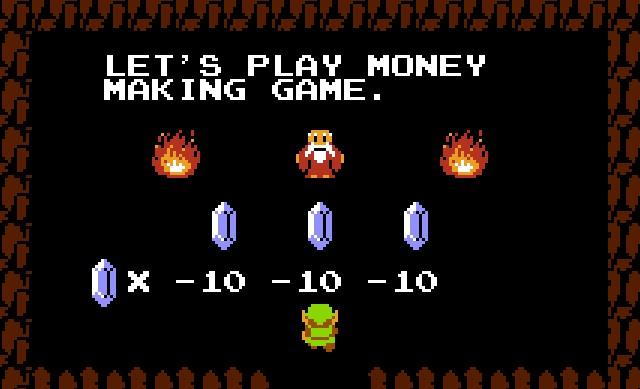 Money Making Game from Legend of Zelda