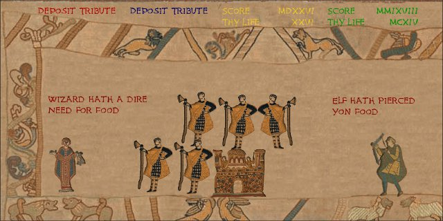 Gauntlet on the Bayeux Tapestry