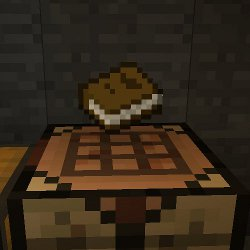 A newly crafted book in Minecraft.