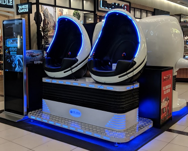 Virtual Reality Pods at the Mall